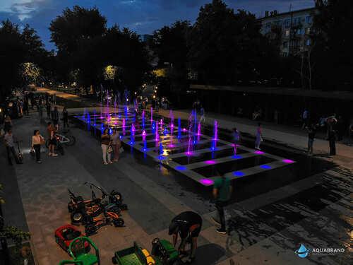 Пешеходный фонтан Волгоград
