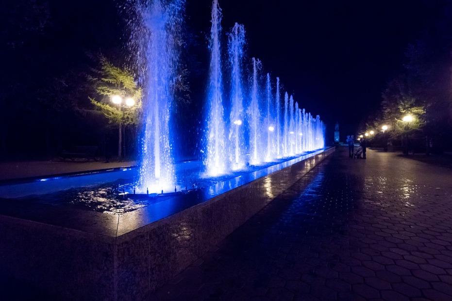 Светомузыкальный фонтан Крылья Советов
