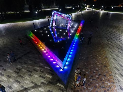 Световой фонтан Абстракция