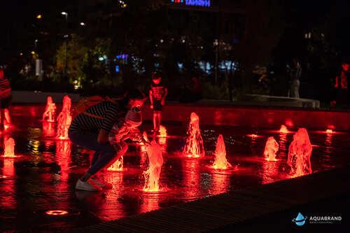 Пешеходный световой фонтан Белые Цветы