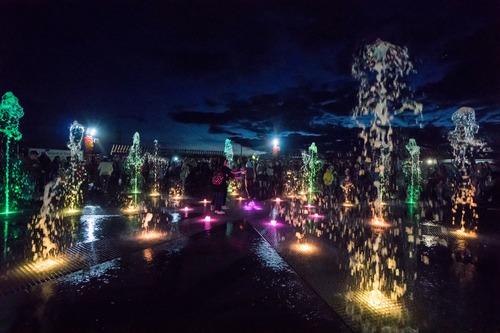 Пешеходный фонтан Солнышко в Заинске