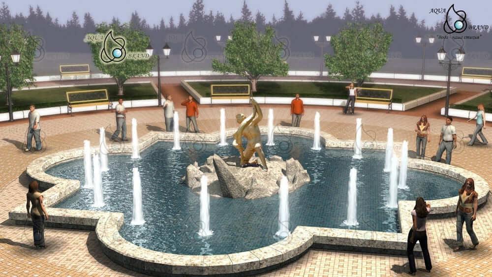 Проект скульптурного фонтана в Алуште