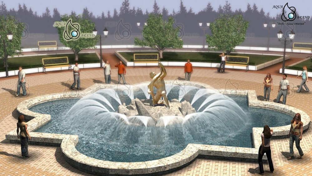 Фонтан в Алуште. 3D модель