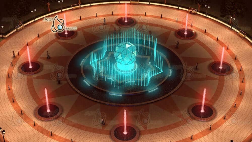 Светодинамический фонтан в Москве - проект