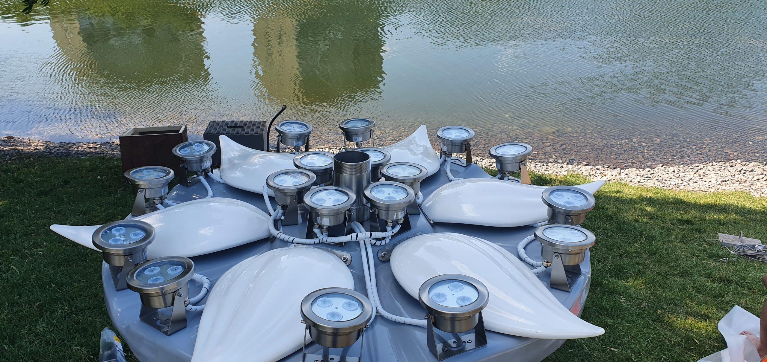Плавающие фонтаны Москва