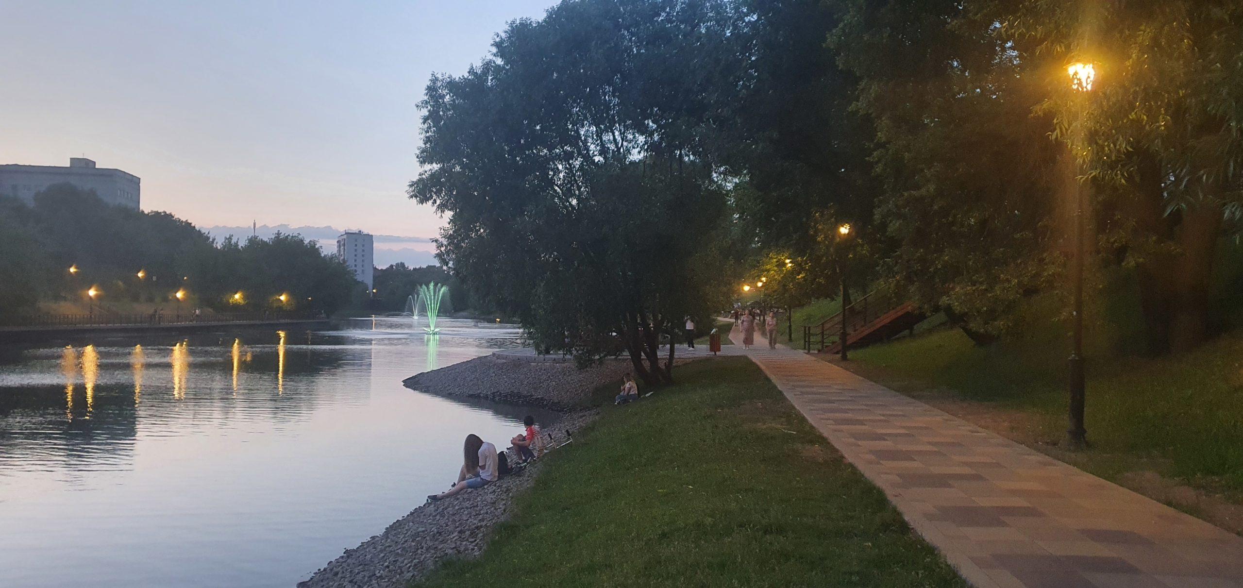 Черкизовский пруд, фонтаны