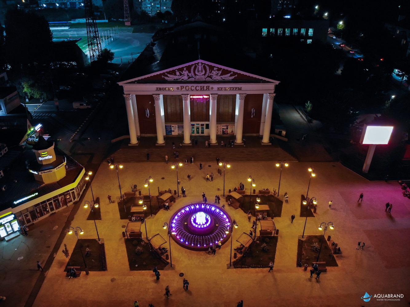 Светодинамический фонтан Саратов