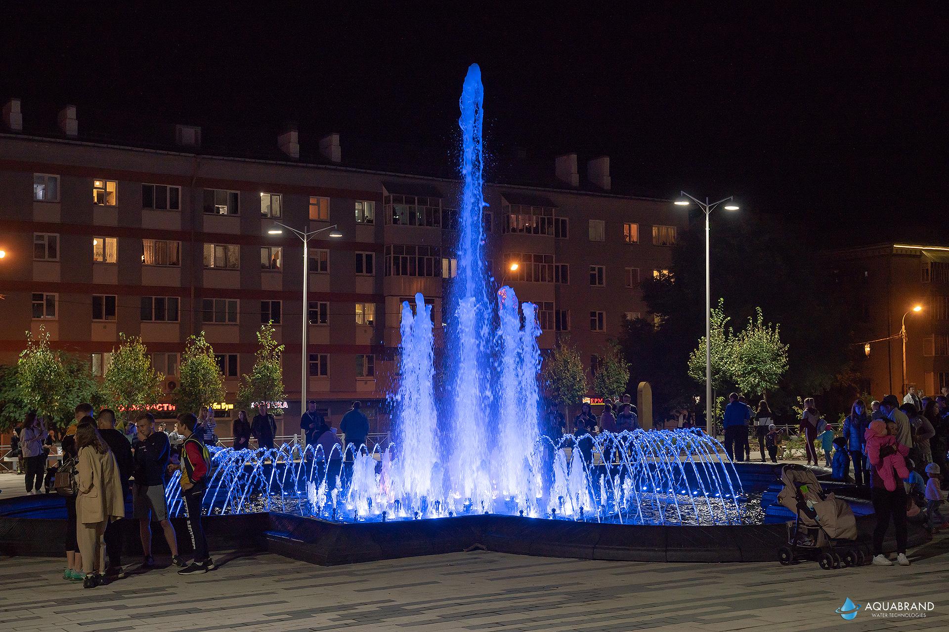 Реконструкция фонтана Юдино